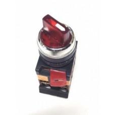 Переключатель IEK АNСLR-22-3 I-O-II подсв 220В красный (10)