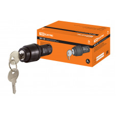 Переключатель TDM SB7-CG33 I-O-II 1з+1р ключ чёрный (10)