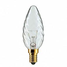 Лампа накаливания свеча витая 40Вт Е14 прозрачная Philips (20)
