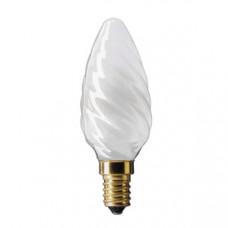Лампа накаливания свеча витая 60Вт Е14 матовая Philips (20)