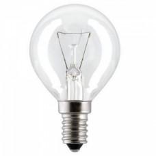 Лампа накаливания шар G45 40Вт Е14 прозрачная Philips (100)