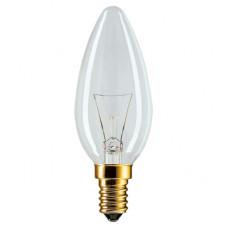 Лампа накаливания свеча 40Вт Е14 прозрачная Philips (10/100)