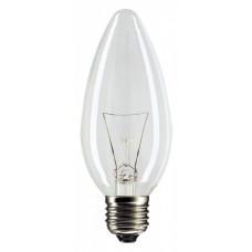 Лампа накаливания свеча 40Вт Е27 прозрачная Philips (10/100)