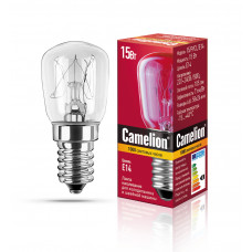 Лампа накаливания БРН 15Вт Е14 для холодильника Camelion (500)
