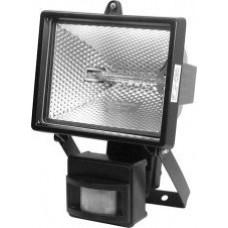 Прожектор галогенный 500Вт R7s IP54 датчик TDM чёрный (12)