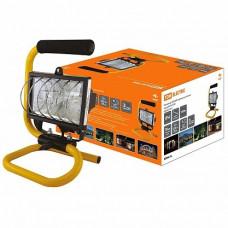 Прожектор галогенный 500Вт R7s IP54 переносной TDM чёрный (8)