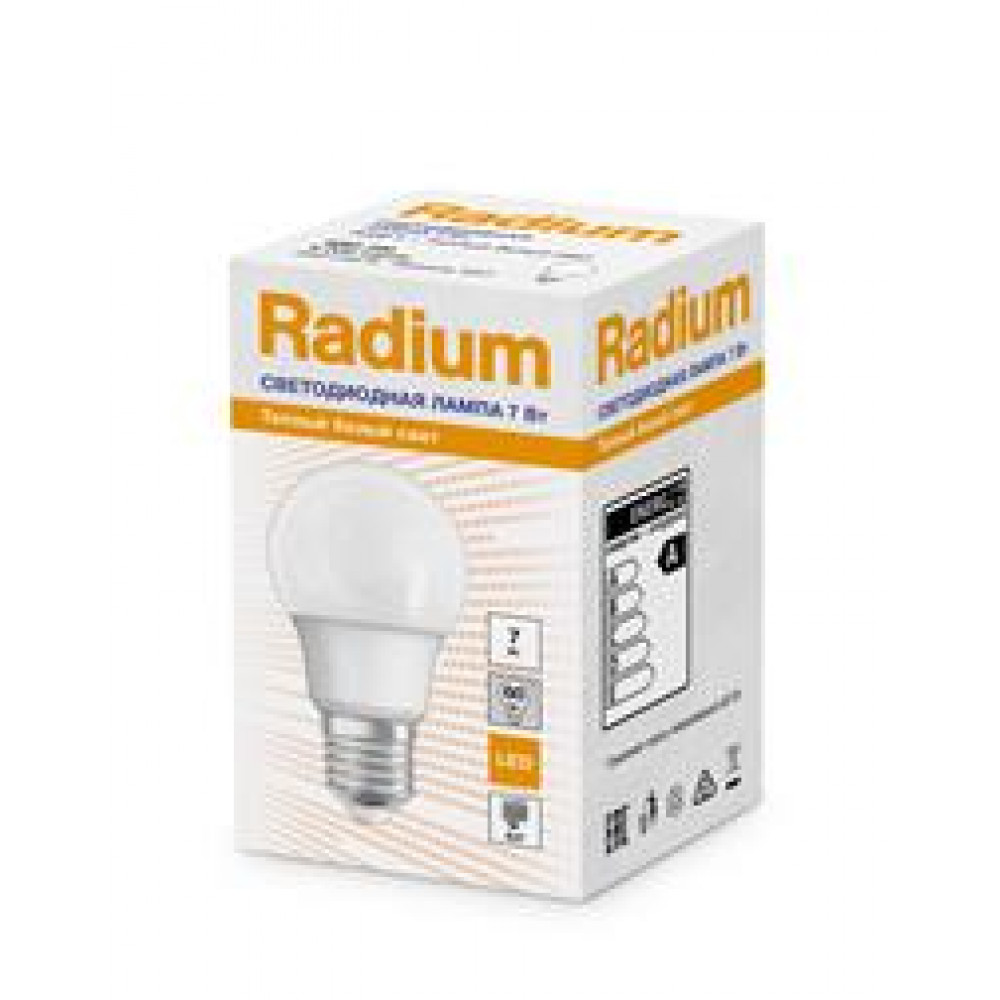 Лампа диодная A60 7Вт Е27 6500К 450Лм Osram Radium (100)