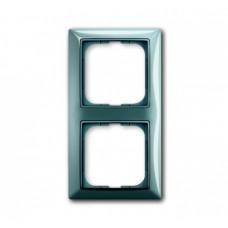 Рамка ABB Basic 55 синяя 2-ая (1)