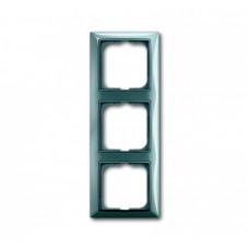 Рамка ABB Basic 55 синяя 3-ая (1)