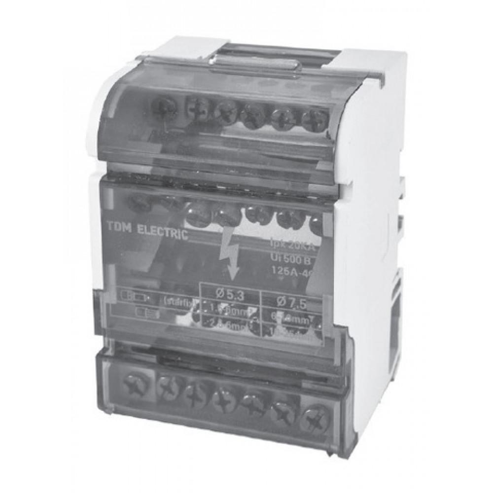 Блок TDM МРБ-125 на DIN (125А, 4П, 4х11) (50)