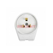 Вилка для электроплит Rexant белый 2P+N 40А 250В