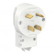 Вилка для электроплит BLANCA белый 3P+N 32А 400В (2)