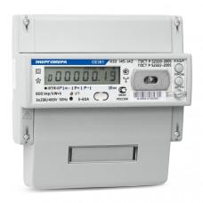 Счётчик электроэнергии 380В многотарифный DIN 5- 10А ЖКИ Энергомера CE301 R33 043-JAZ 2020г =4680385000213=(8)