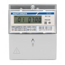 Счётчик электроэнергии 220В однотарифный ЖКИ 5-60А Энергомера СЕ101 R5.1 145 (10)