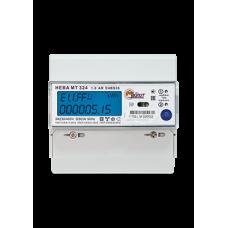 Счётчик электроэнергии 380В многотарифный DIN 5- 60A ЖКИ Нева 324 OS26 2020г (30)
