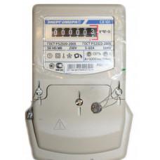 Счётчик электроэнергии 220В однотарифный 5-60А ЭУ Энергомера СЕ101 S6 145 М6 2020г (10)