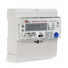 Счётчик электроэнергии 220В многотарифный DIN 5-60А ЖКИ Нева 124 AS О 2020г (45)