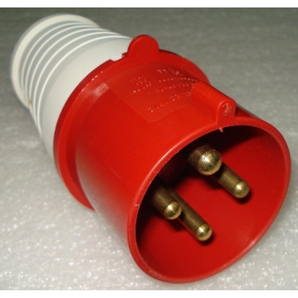 Вилка TDM 014 3Р+РЕ 16А 380В IP44 (10)