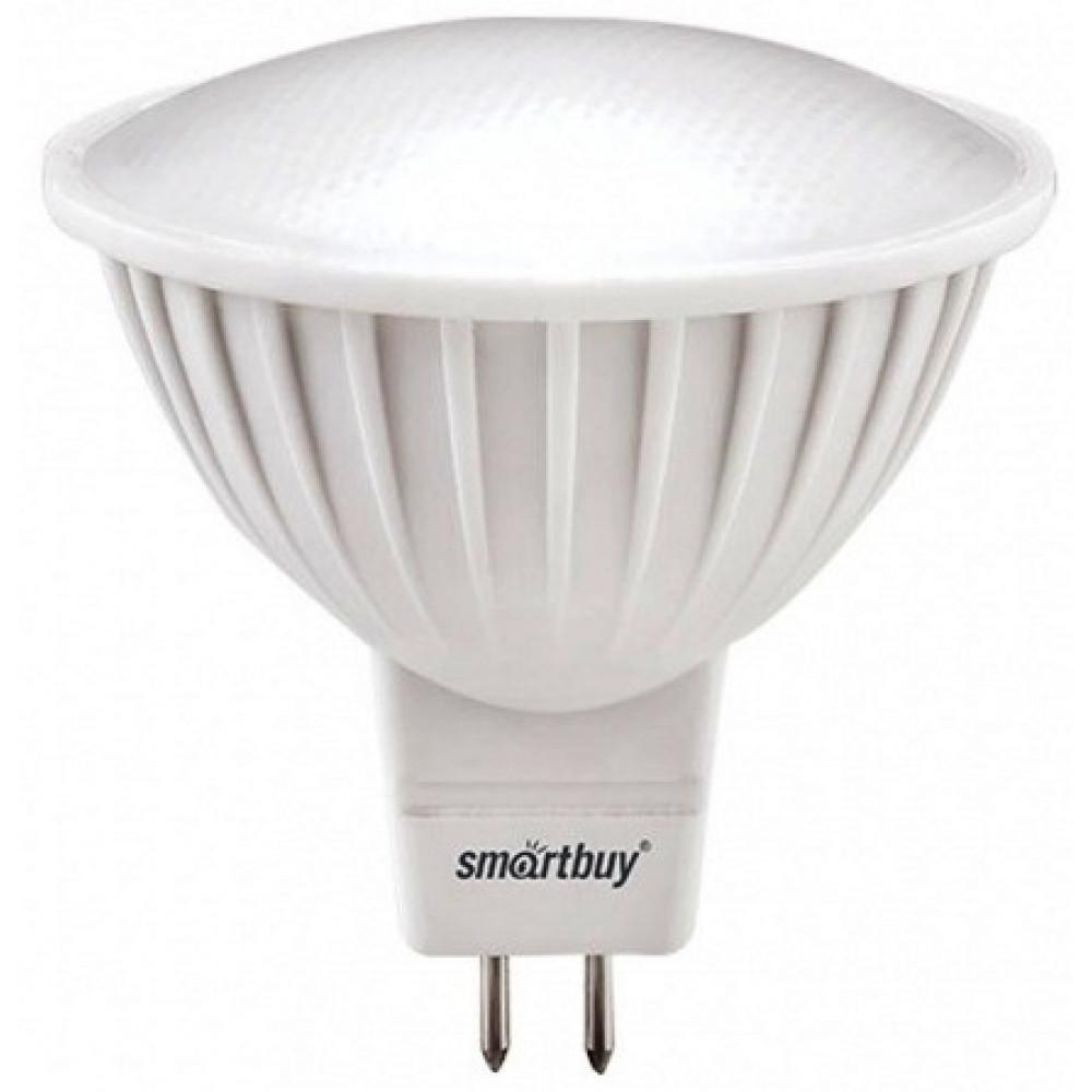 Лампа диодная MR16 GU5.3 7Вт 3000К 480Лм SmartBuy (100)