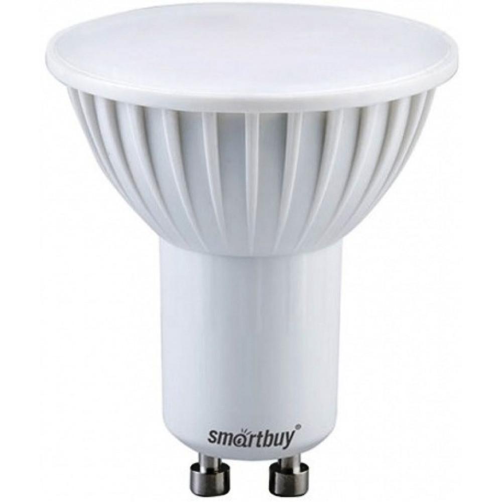 Лампа диодная MR16 GU10 7Вт 6000К 450Лм SmartBuy (100)