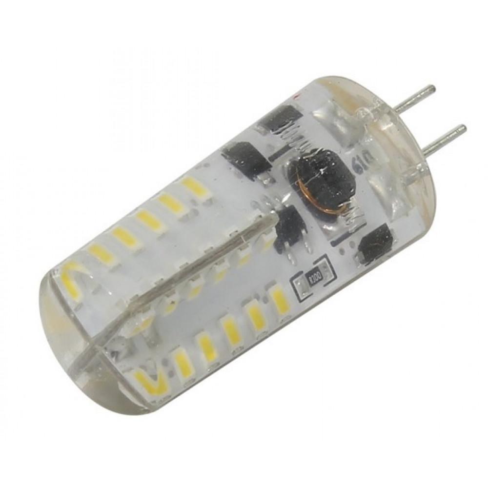 Лампа диодная G4 12В 4.5Вт 3000К 330Лм SmartBuy (100)