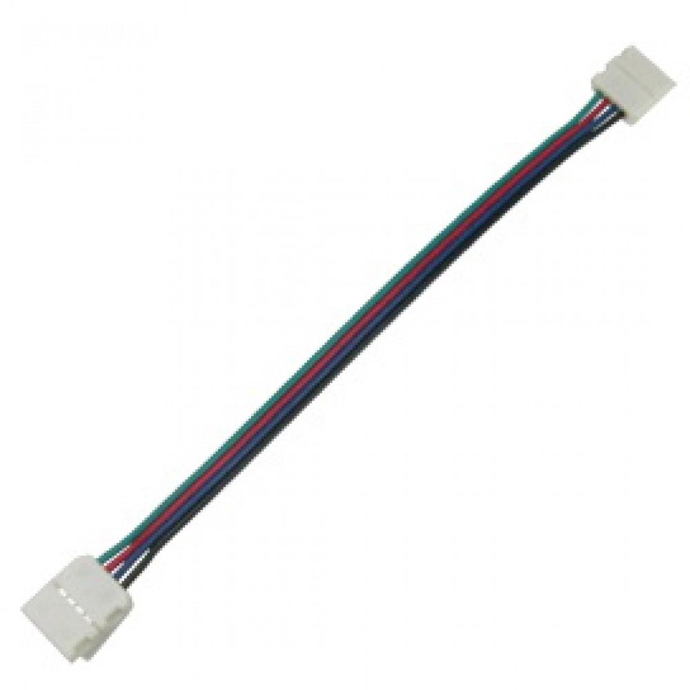 Коннектор 5050 гибкий 2 разъёма RGB 15см Ecola (3)