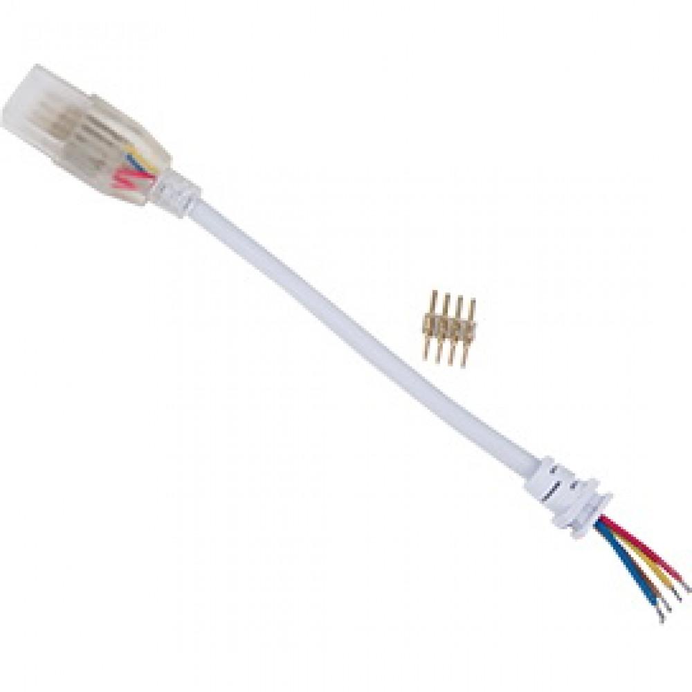 Коннектор 220В 5050 RGB гибкий 1 разъём 150мм Ecola 14x7
