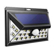 Светильник на солнечной батарее Smartbuy 21-MS 20LED датчик движения черный (100)