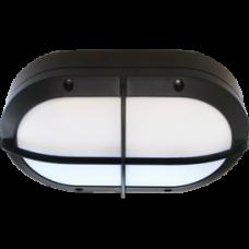 Светильник уличный настенный GX53x2 Ecola B4148S IP65 матовый овал решётка алюминий чёрный 215x135x65мм