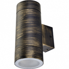 Ecola GX53 LED 8013A светильник накладной IP65 прозрачный Цилиндр пластик 2*GX53 Черненая бронза 205x140x90