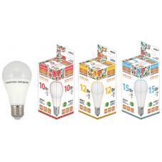 Лампа диодная A55 10Вт Е27 6500К 800Лм TDM Народная (10)