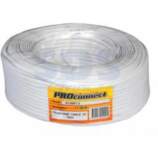 Провод ШТЛП-2 телефонный плоский белый (100/1000)