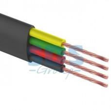 Провод ШТЛП-4 телефонный плоский черный REXANT (100/1000)