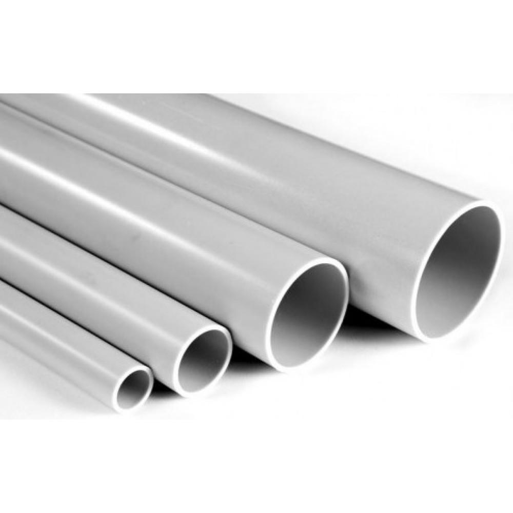 Tруба гладкая ПВХ жесткая 16мм 3м серый U-plast (156)