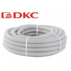 Труба гофрированная ПВХ 20мм серый DKC (100)