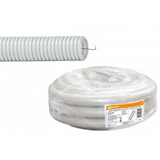 Труба гофрированная ПВХ 16мм серый TDM(100)