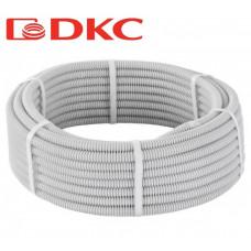 Труба гофрированная ПВХ 16мм серый DKC (100)