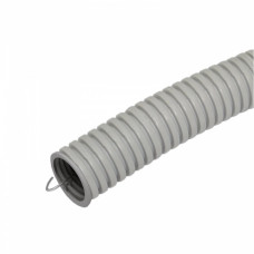 Труба гофрированная ПВХ 16мм серый U-Plast (25)