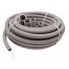 Труба гофрированная ПВХ 16мм серый U-Plast(упак100м)