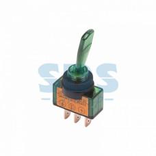 Тумблер Rexant вкл-выкл 20А 1п зелёная подсветка (10)