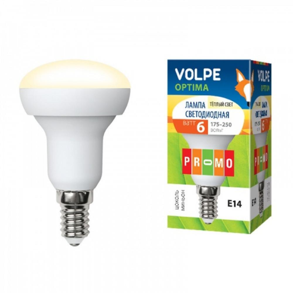 Лампа диодная R50 6Вт Е14 3000К 450Лм Volpe (10)
