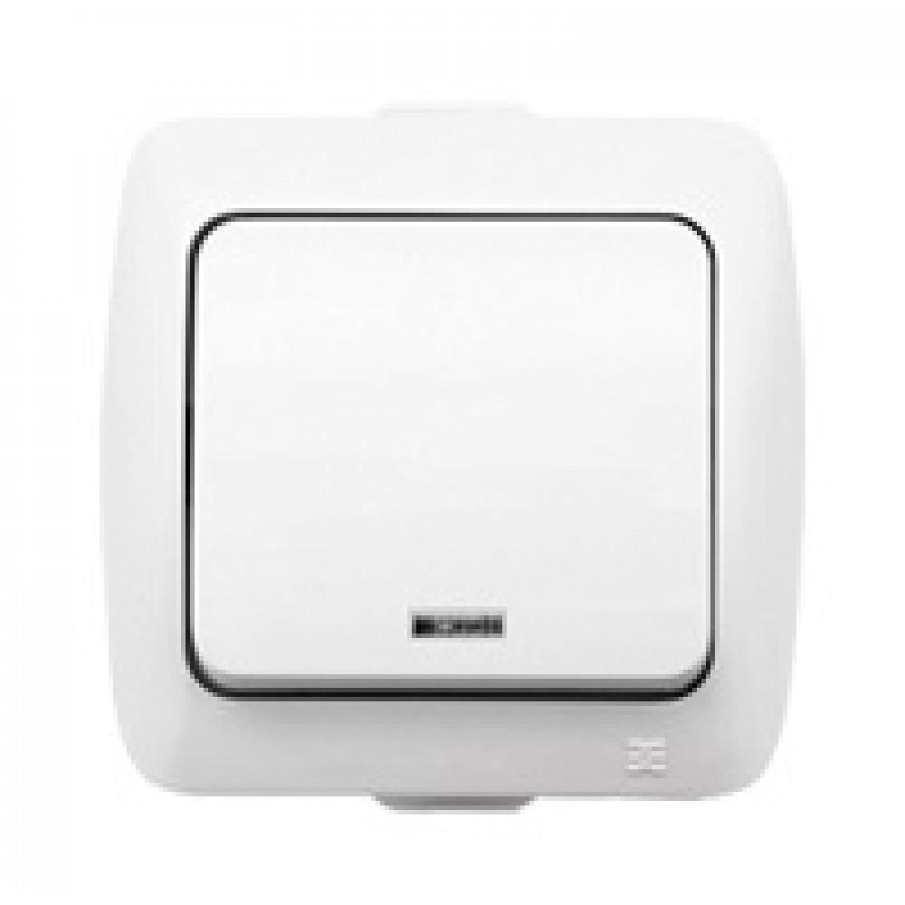 Выключатель EL-Bi ALSU 1кл. белый подсветка (10/60)