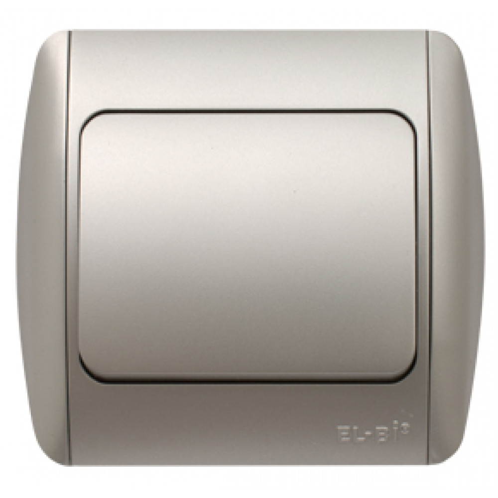 Выключатель EL-Bi ZIRVE 1кл. серебро вставка (10)