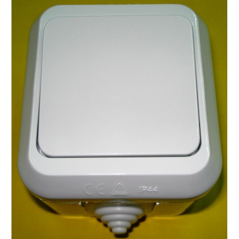 Выключатель Makel IP44 1 кл. белый (10/100)