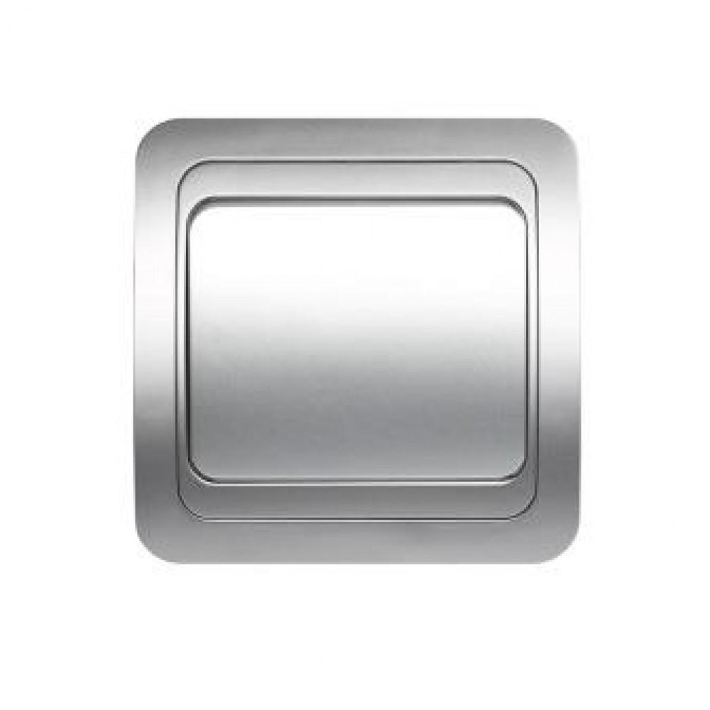 Выключатель Smartbuy Марс серебро 1кл (10/200)