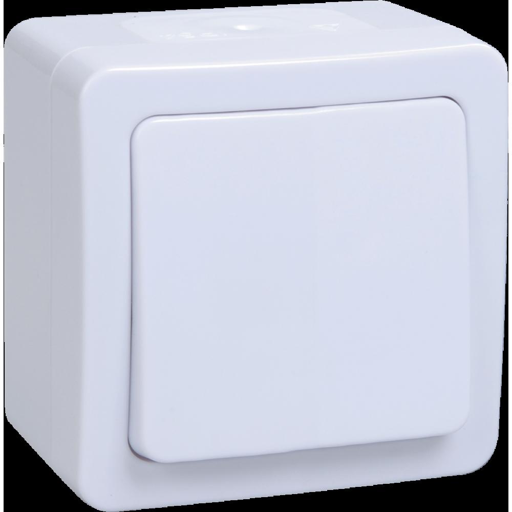 Выключатель IEK Гермес 1кл. IP54 белый проходной (10/100)