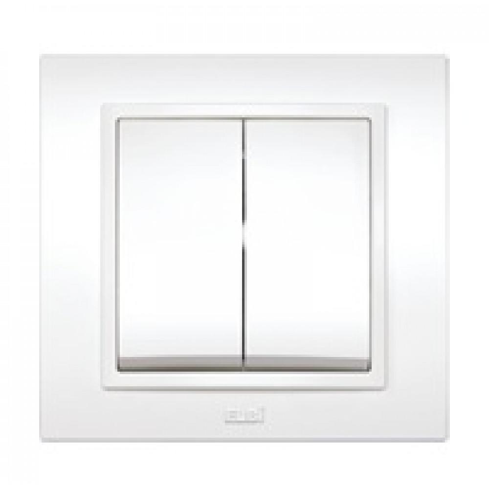 Выключатель EL-Bi Zena 2кл. белый в сборе (10)