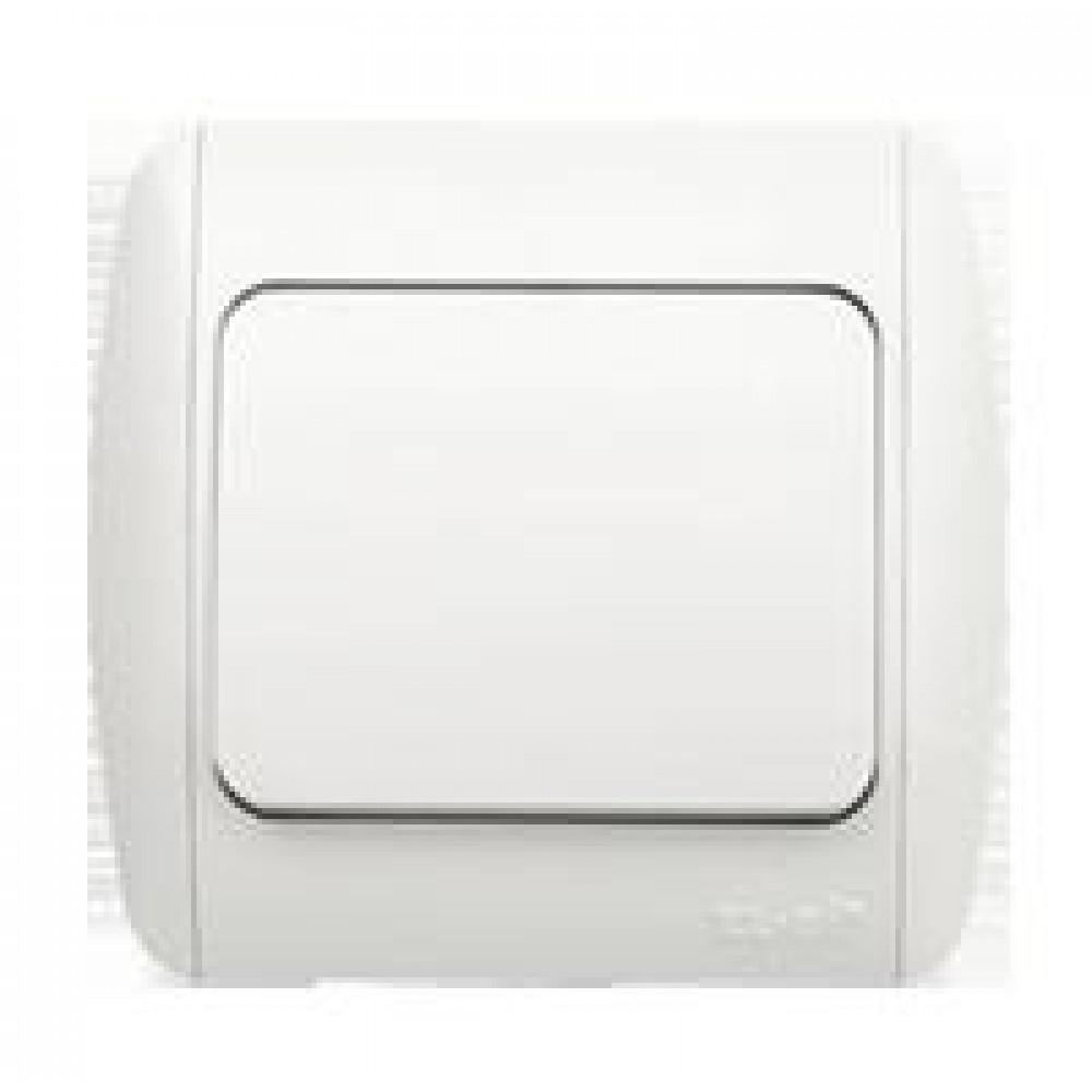 Выключатель EL-Bi ZIRVE 1кл. белый (10/60)