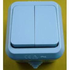 Выключатель Makel IP44 2 кл. белый (10)