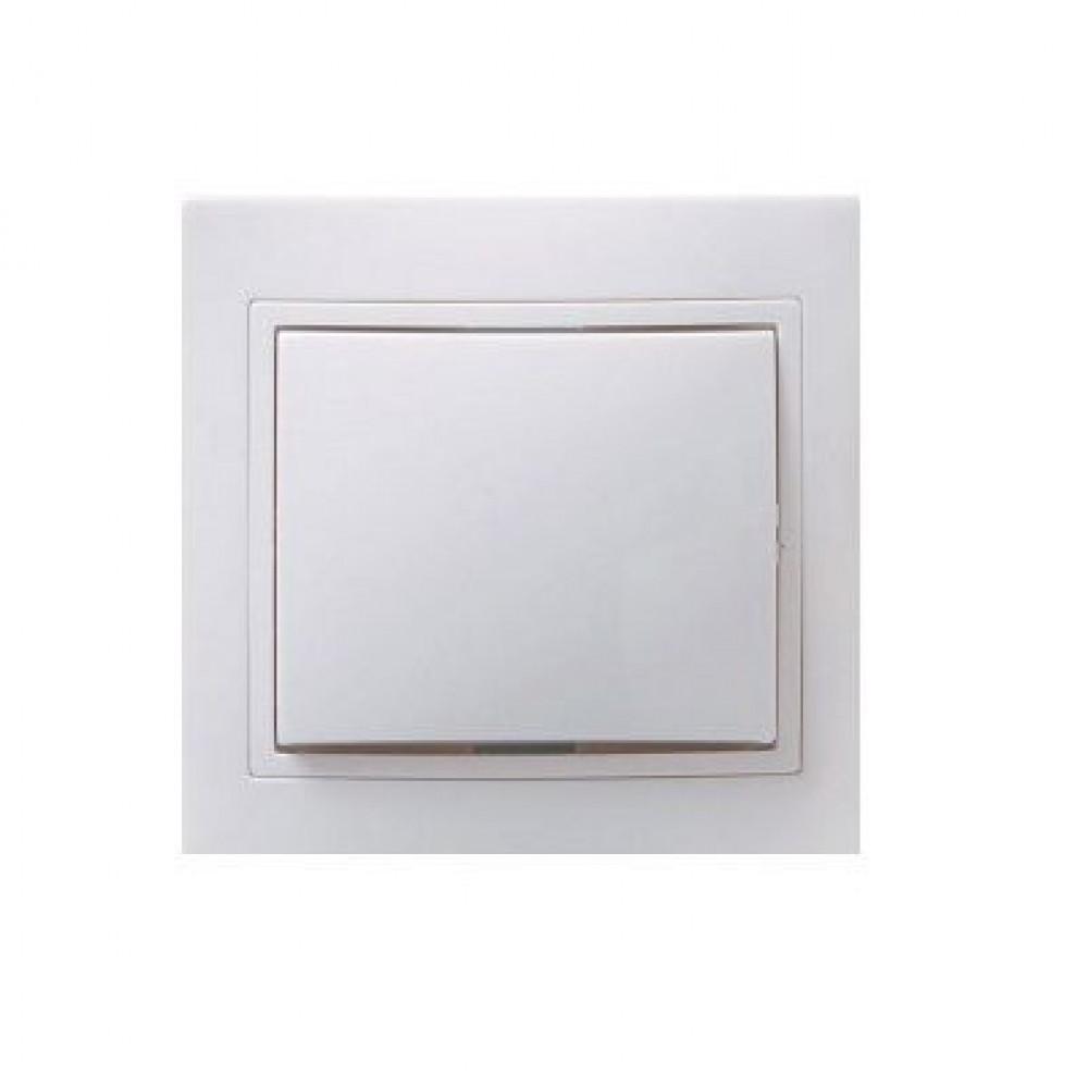Выключатель IEK Кварта 1кл. белый керамика (10/200)